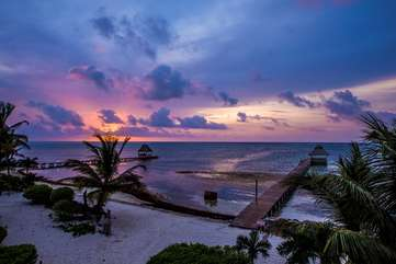 Indigo Belize 1B Beach Front View Dawn