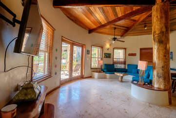 Indigo Belize 4A Main living room area