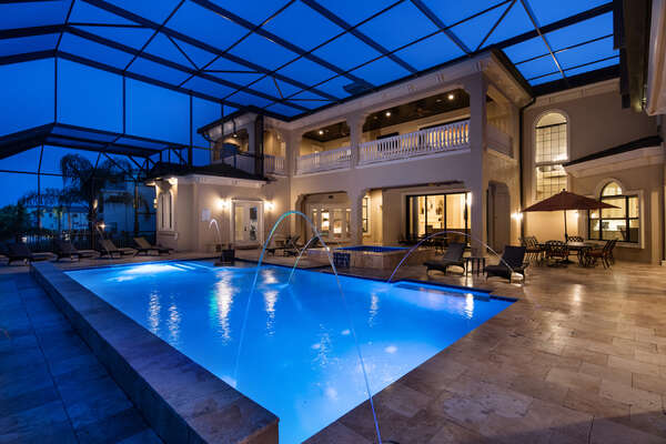 Relax by your private pool anytime.