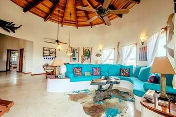 Customized beach home living room