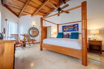 Spacious Master Bedroom with high ceiling