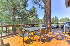 Deck with BBQ and seating - overlooking golf course