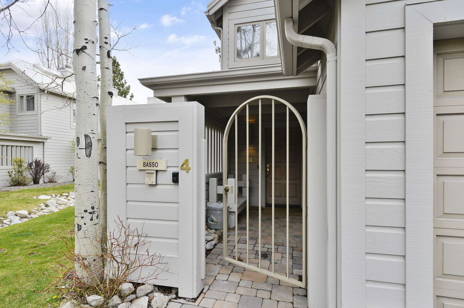 Front Door of our Lake Tahoe Waterfront Vacation Rental.