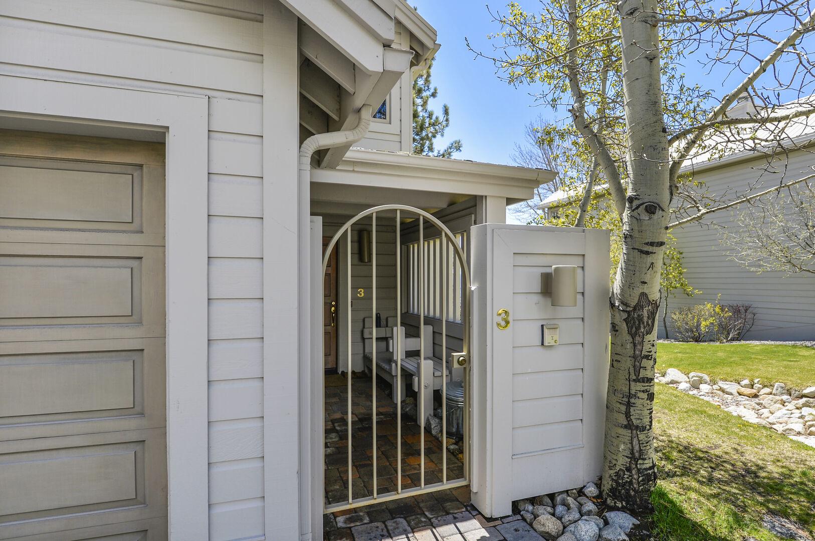 Front Door of our Waterfront Lake Tahoe Rental.