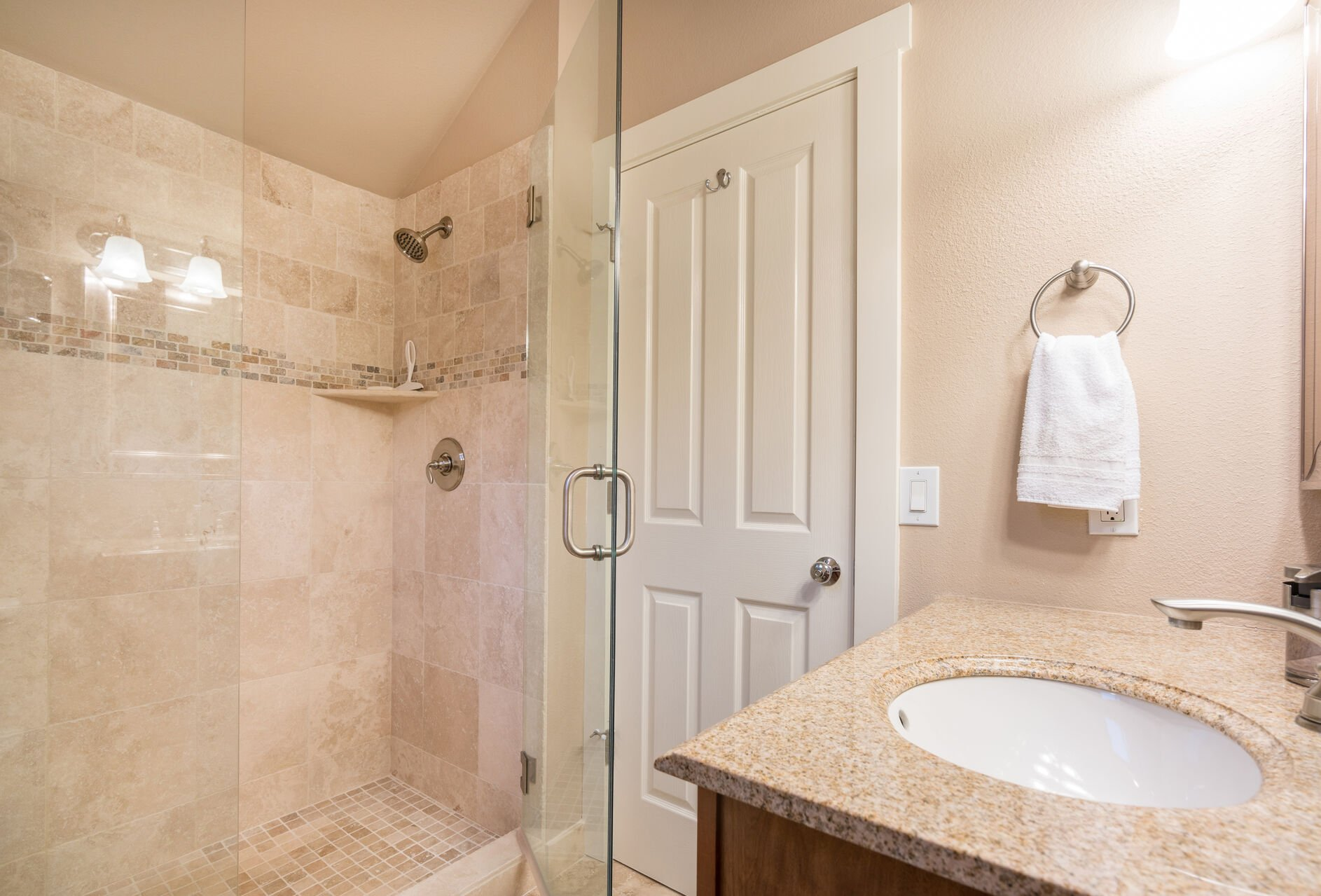 Full Bathroom with Walk-in Shower and Vanity