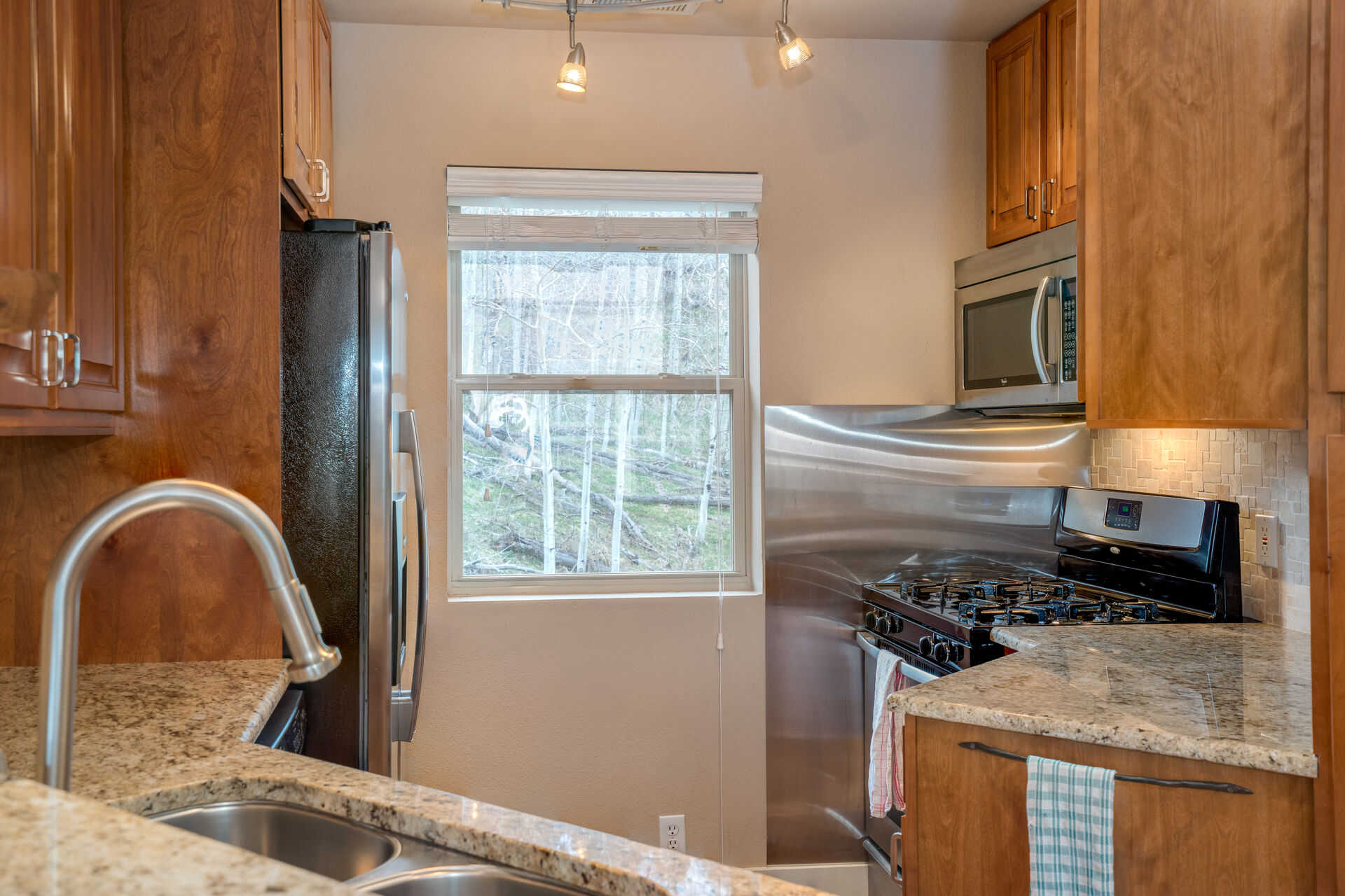 Fully Equipped Kitchen with Stainless Steel Appliances at Parker Ridge 503