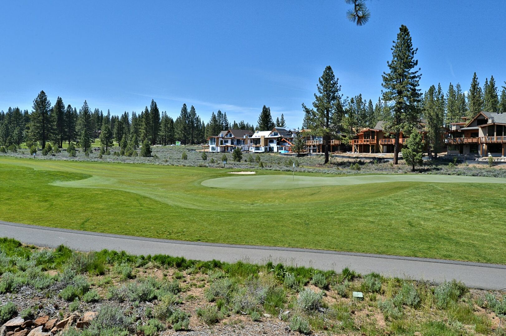 An Image of the Landscape Outside Vacation Rental in Truckee CA.