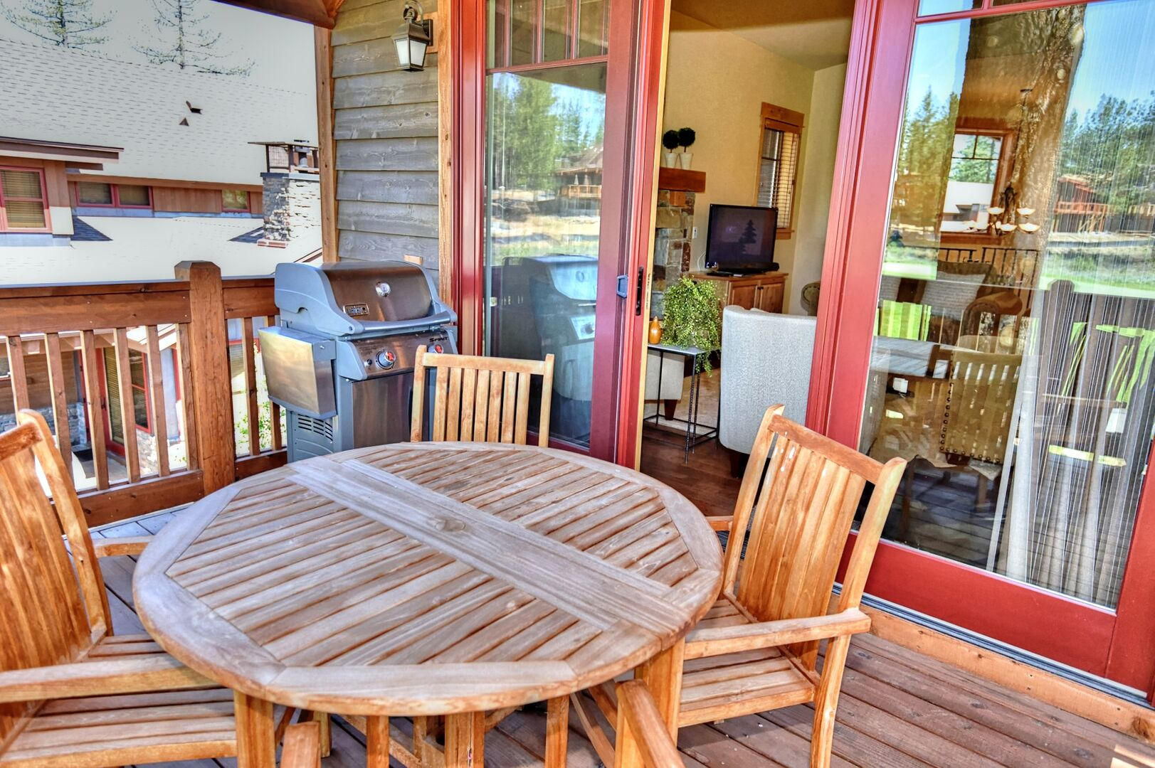 Enjoy Outdoor Seating on Patio of Vacation Rental in Truckee CA.