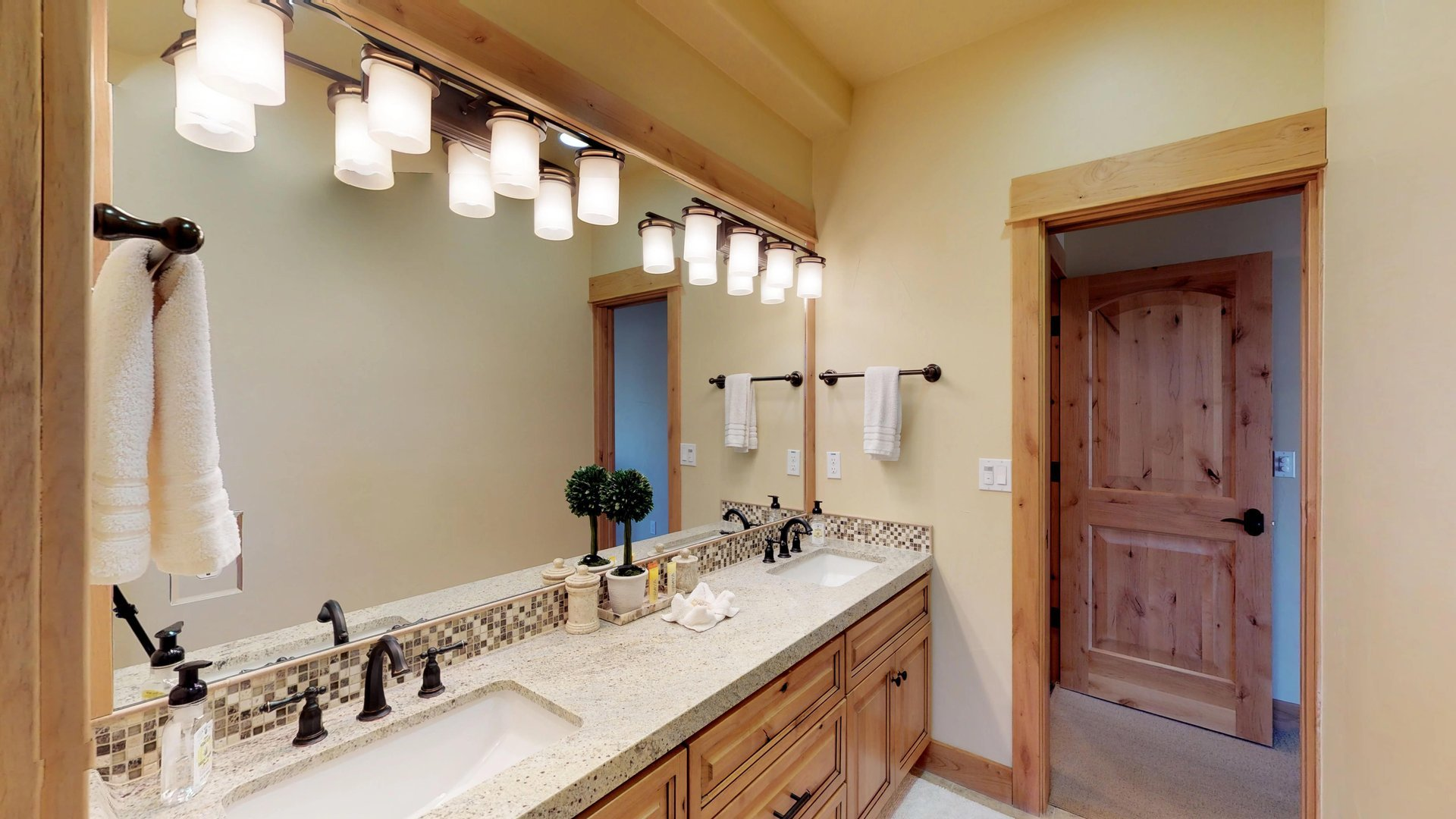 Enjoy a Large Bathroom Attached to Bedroom.