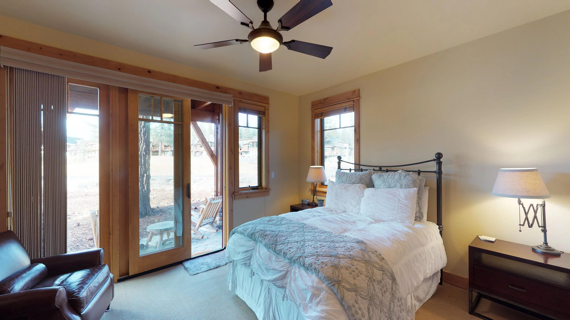 Beautiful Bedroom Features Plenty of Natural lights.