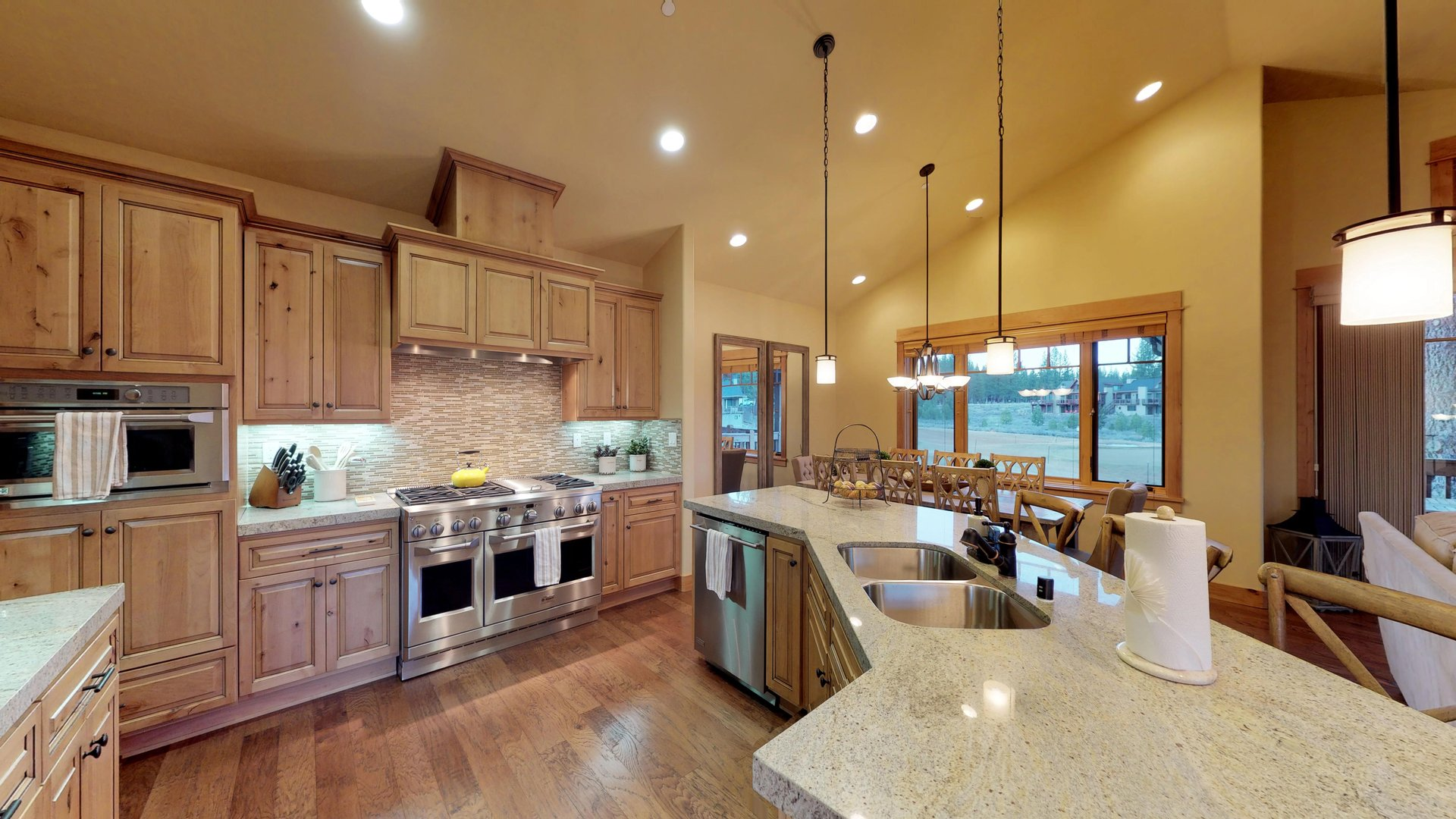 Luxury Kitchen Features Plenty of Cabinet and Counter Space.