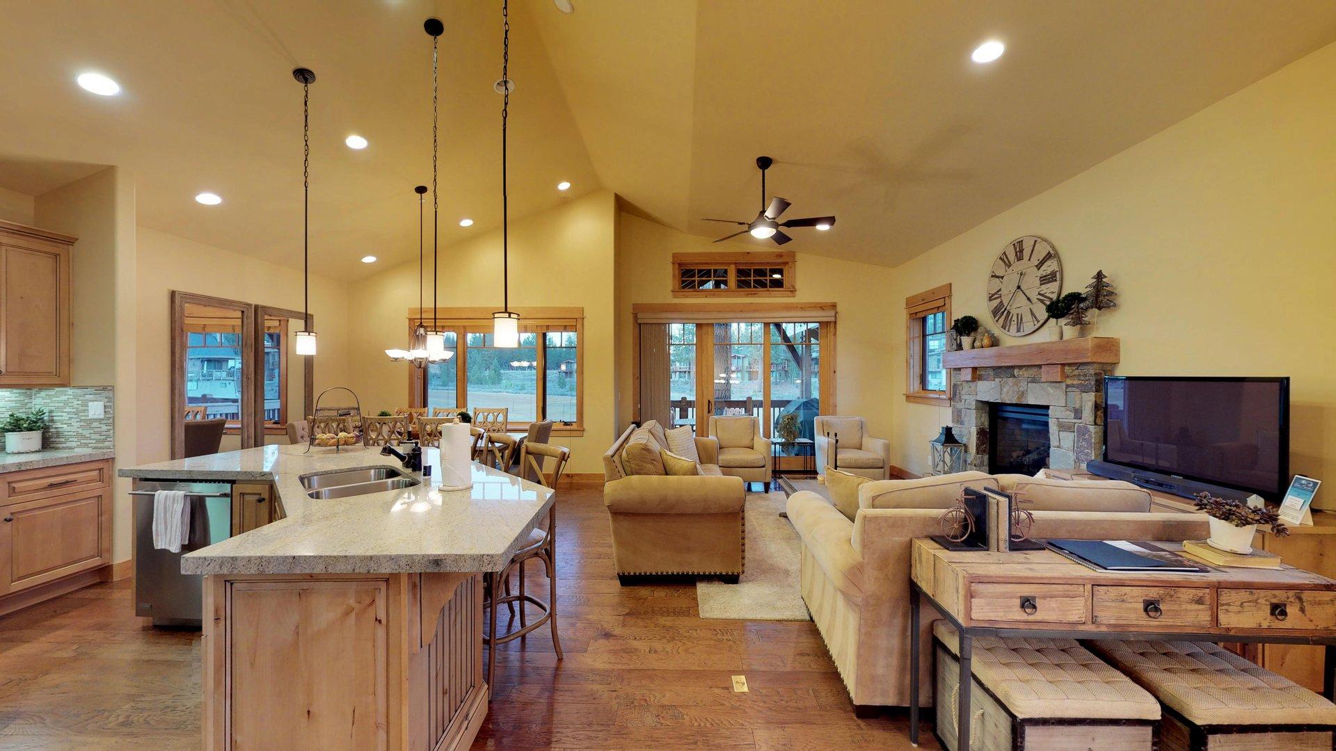 Spacious Open-Floor Plan in Our Vacation Rental in Truckee CA.