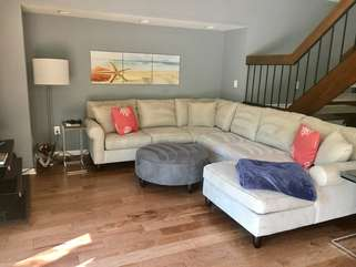 Relax on the comfortable sofa and put your feet up!