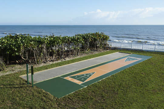 Onsite shuffleboard and boccie court