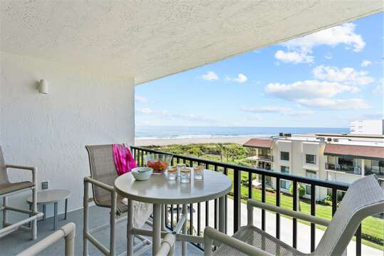 Beautiful warm southern exposure from your private balcony