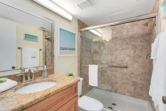 Master ensuite with stand up shower and granite counter