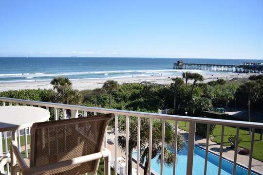 View of the Pier from your balcony.
