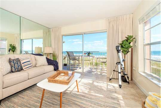 Gorgeous Beach views from the living room