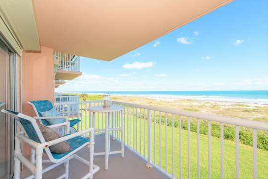 Private balcony off the the Master Bedroom (direct oceanfront views)