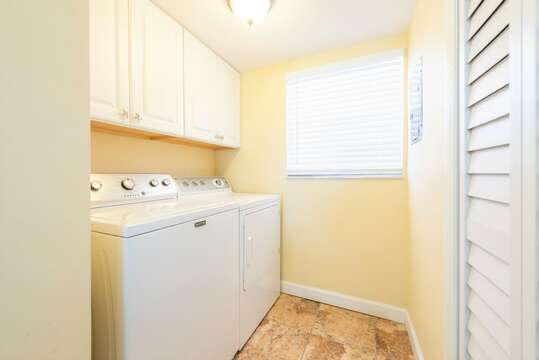 Laundry is located just off of the kitchen for your convenience