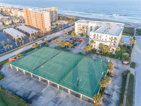 Overhead look at Cape Winds Resort - Tennis Courts, Basketball Courts, Pool, Hot Tub, Sauna