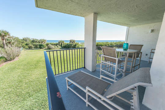 Enjoy the direct ocean view from your private & spacious wraparound balcony