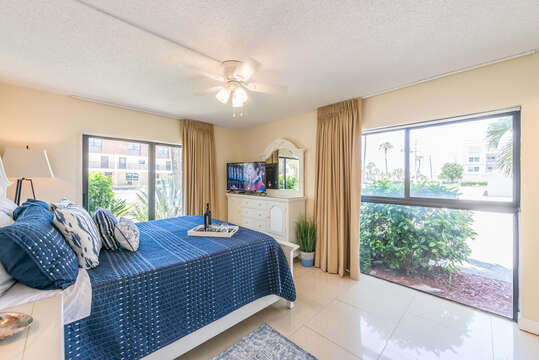 Relax in the sun drenched master bedroom, or get a good night's sleep with the blackout curtains.