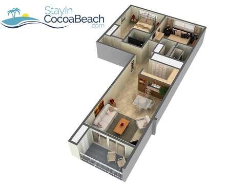 Condo floor plan.