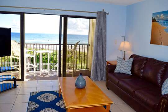 Great view of the ocean from your living room