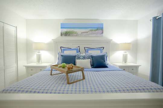 Guest bedroom (king bed) walking out to a direct ocean view balcony. 50