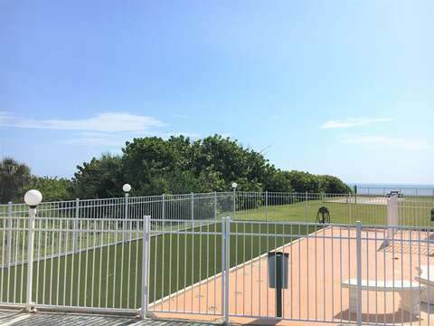 There are two gated dog parks at the building - a big and small one for our four legged friends!