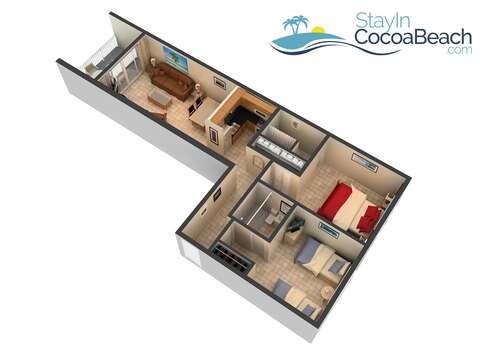 The condo floor plan.