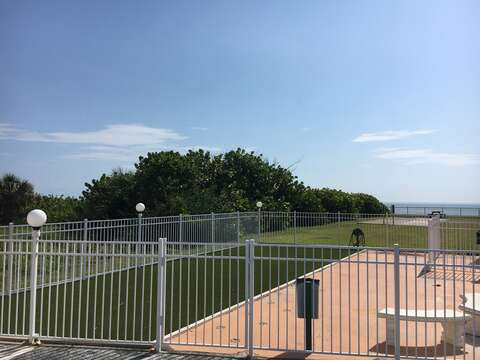 There are 2 private & fenced dog parks @ the resort