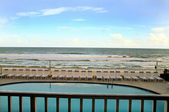 Your private direct ocean front balcony view