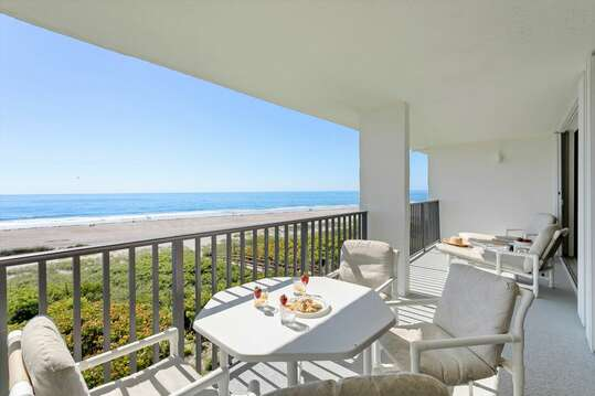 Enjoy the sounds of the ocean for your huge double wide balcony