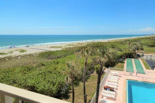 You can see the Pier down the shoreline from your private balcony views!