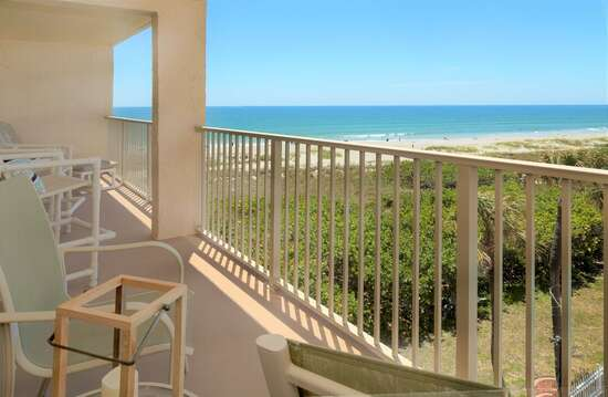 1 of 2 private balconies - the other faces directly east over the ocean