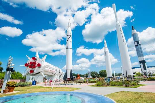Not far from the famous Kennedy Space Center! You might be able to catch a rocket launch during your visit!