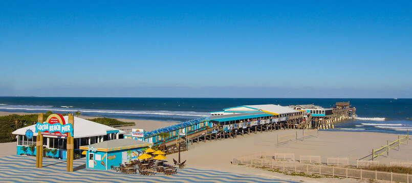 The Cocoa Beach Pier just down the beach