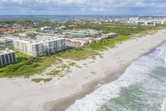 Right on the beach with private walkway!