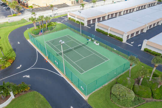 Tennis court available on site