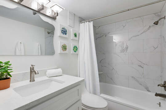 Bright and upgraded bathrooms