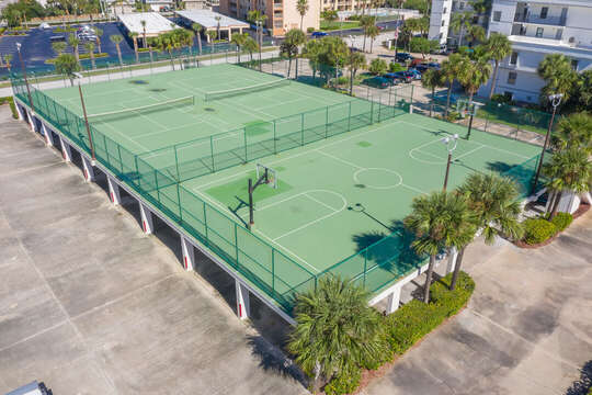 Tennis & Basketball Courts at Cape Winds
