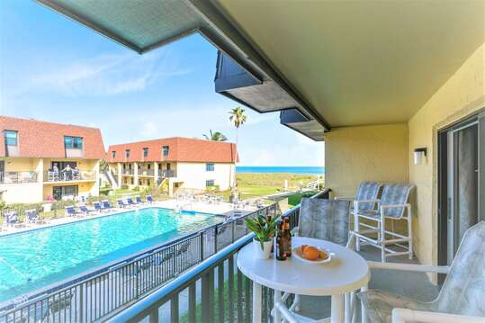 Watch over the kids in the pool or relax and listing to the sound of the waves from your balcony