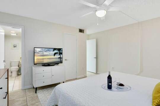 New big screen TVs in both bedrooms.