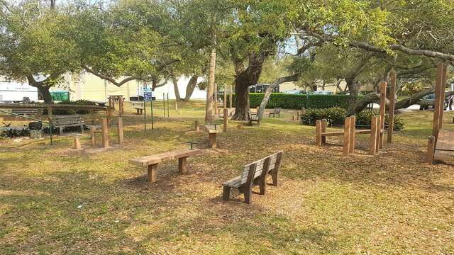 The city's outdoor Arc Fitness ground is free for all and a 400 yard walk from the condo