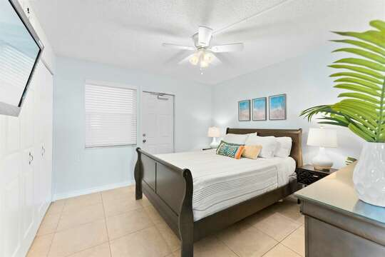 Relax in this serene guest bedroom