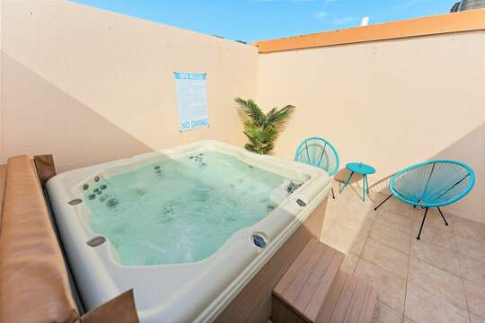 Private hot tub for your enjoyment