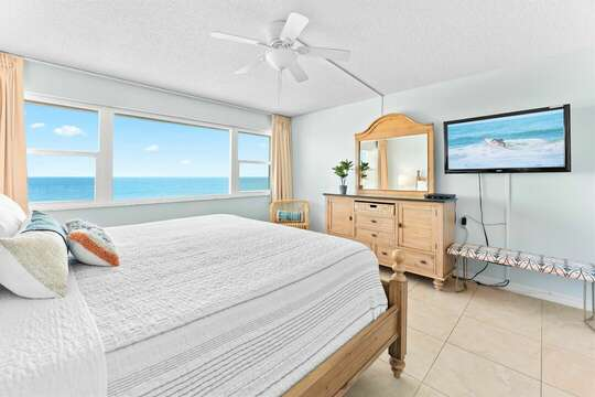 See the ocean and the pool from this bedroom!