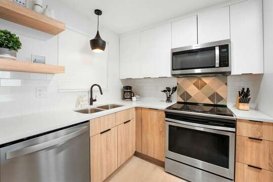 Cook full meals in your fully equipped kitchen